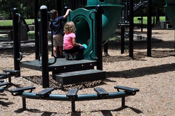 Mercer Arboretum Playground Steps