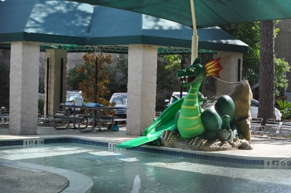 Sawmill Pool The Woodlands Dragon Slide