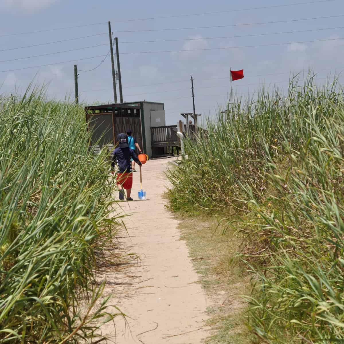 Galveston Island State Park Path to Beach