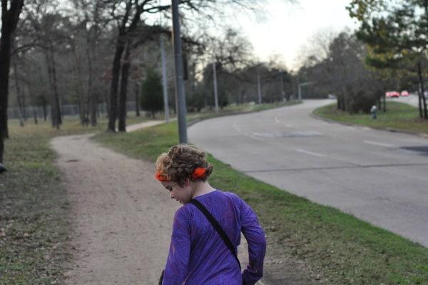 Memorial Park Trail by Street