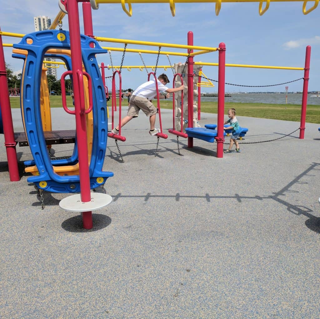 Clear Lake Park Playground Obstacle Course