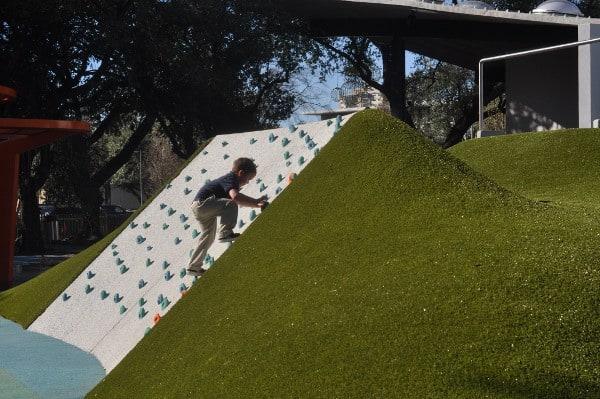 Levy Park Houston Rock Wall