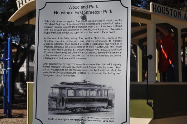 Woodland Park Houston Streetcar Park