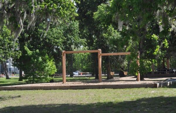 Bayou Parkland Hermann Park Swings