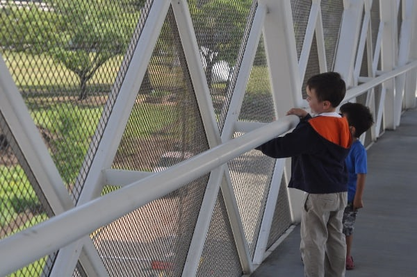 Boys Pedestrian Bridge at TMC Transit Center