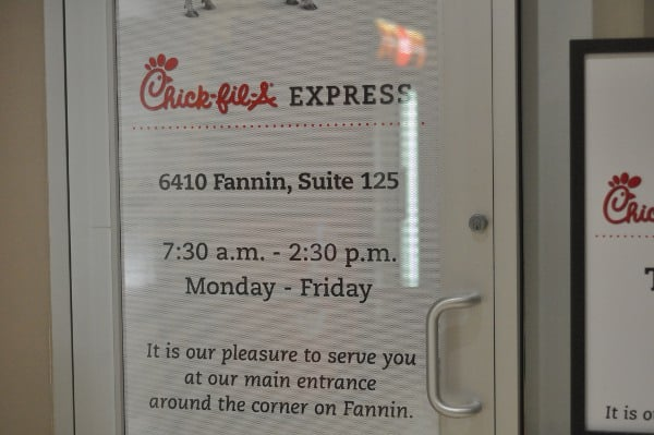 Chickfila Express at Memorial Hermann Houston Zoo