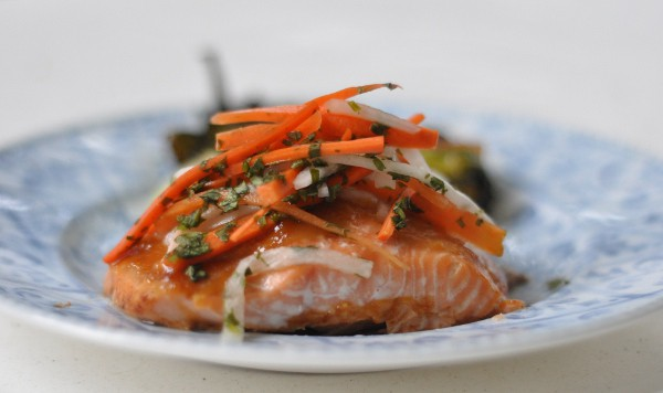 Marias Gourmet Kitchen Salmon and Pickeled Carrots