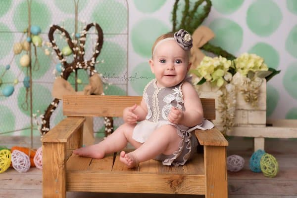 ABBA Color Photography Juliet 6 months Easter