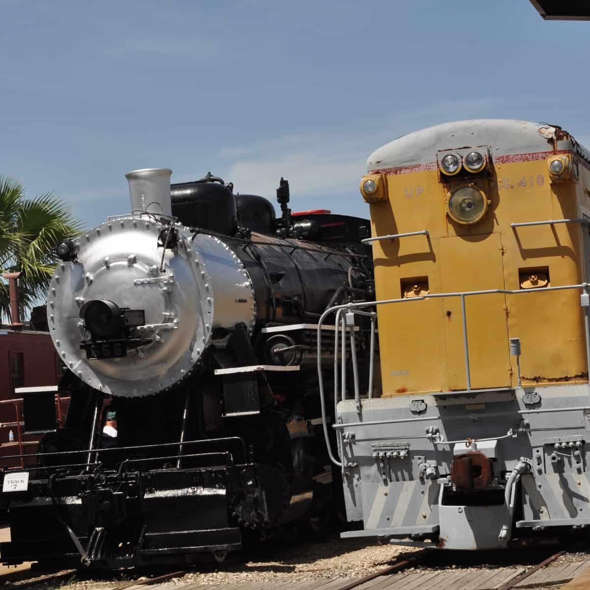 Trains at Galveston Railroad Museum