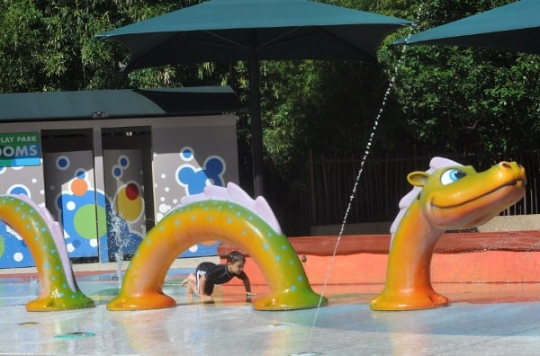 Houston Zoo Splashpad Dragon