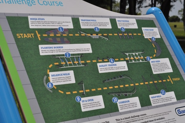Houston Ninja Warrior Course Map
