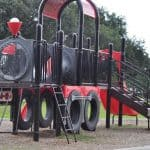 Play on Trains at Noble Park in Texas City!
