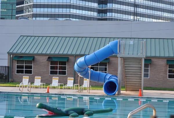Quillian Center Pool slide