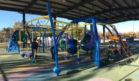 Pods, Lily Pads, Monkey Parks & Unique Features at the Shaded Doss Park Playground