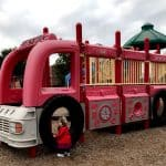 Housman Pocket Park… Find the fire truck, monkey bars and unique play structures!