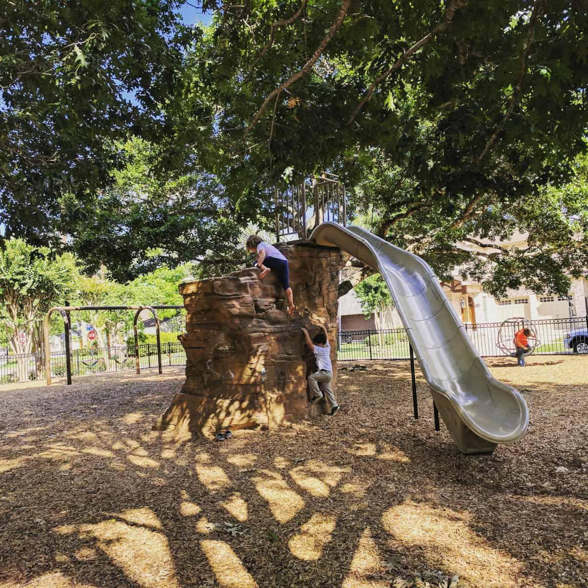 Judson Park Rock Slide
