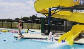 Ice cream scoops at theBlue Bell Creameryand swimming at the Blue Bell Aquatic Center!