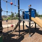 Ropes, Bars and Swings at the Modern Playground at Clarence E. Sasser Park!