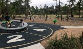 Just look at this nature playground at Smooth Stream Park!