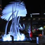 This is the time to visit Discovery Green… ICE, Art & Giant Gingerbread!
