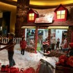 850 Pounds of Sugar, 800 Pound Gingerbread, 1,000 Pounds of Dark Chocolate and 725 Pounds of White Chocolate… The Gingerbread House at Hilton Americas Houston!