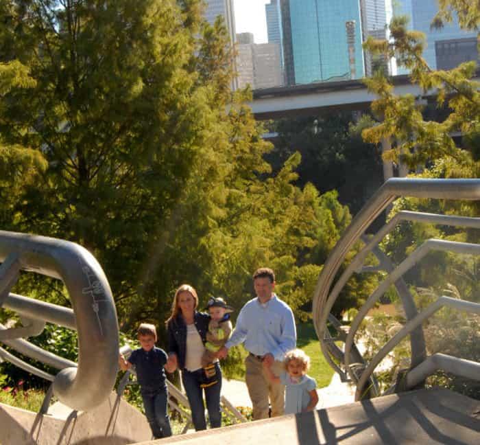 Family Photo at Sabine Street Bridge