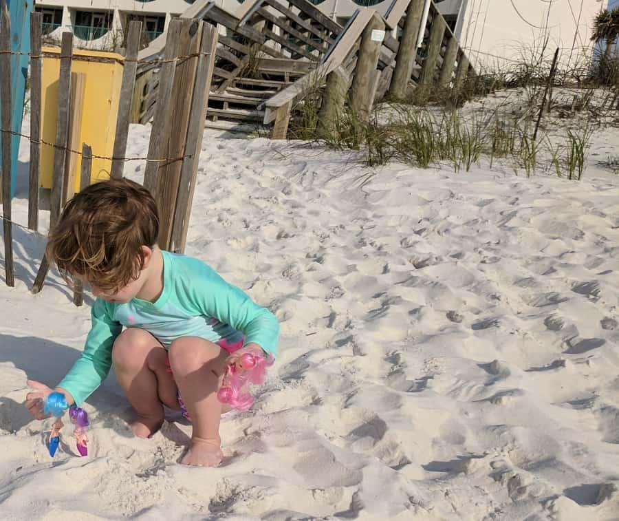Playing at Pensacola Beach