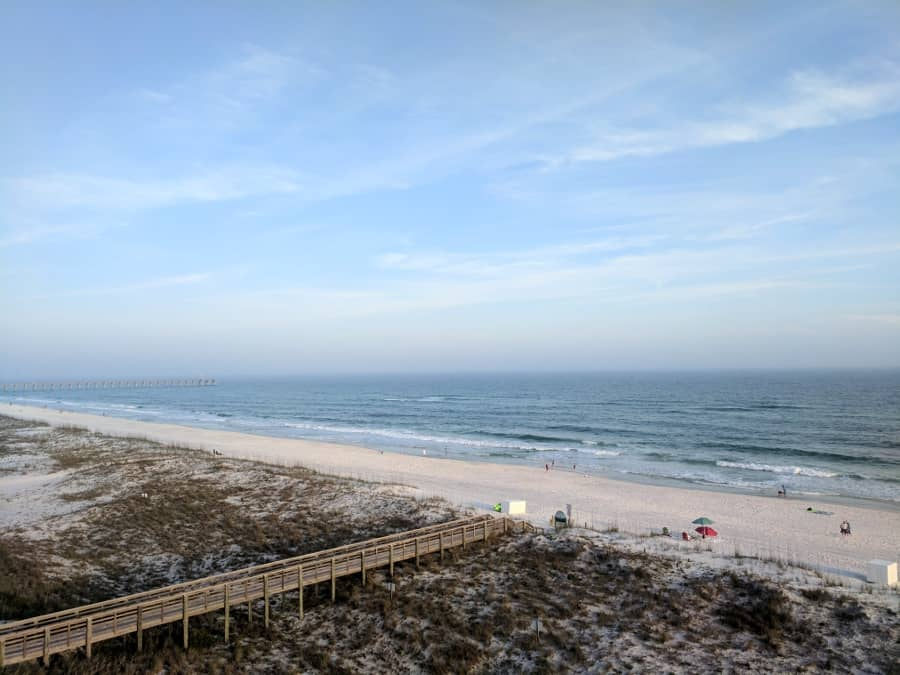 View from hotel at Pensacola Beach