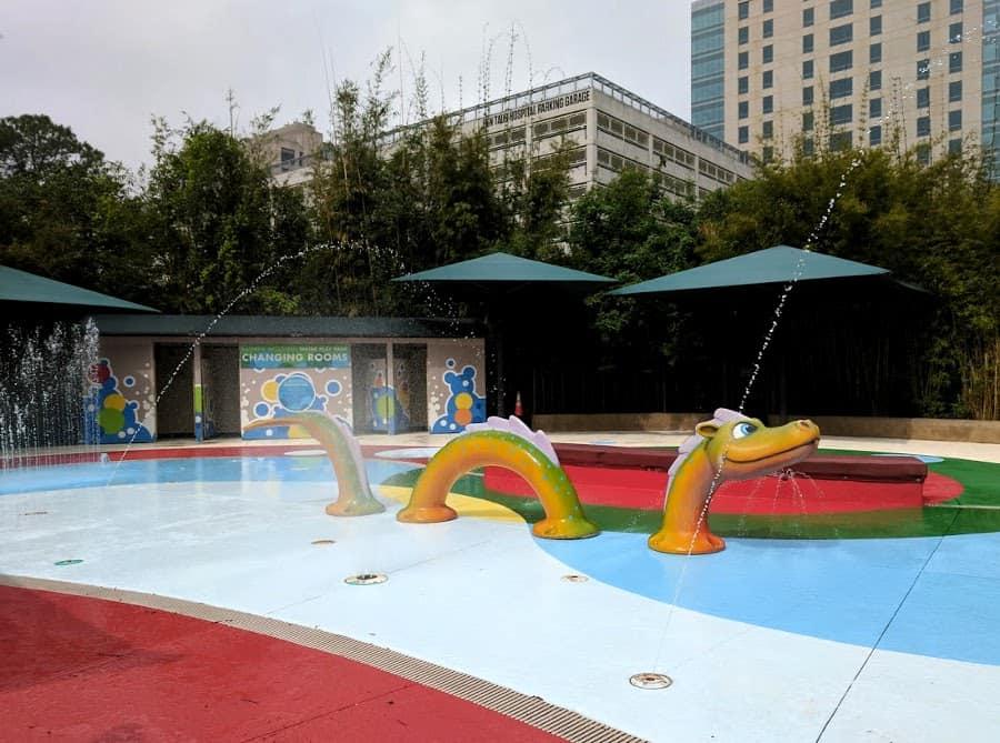Houston Zoo splash pad dragon