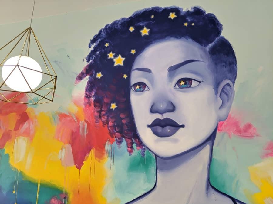 Mural at Honey Art