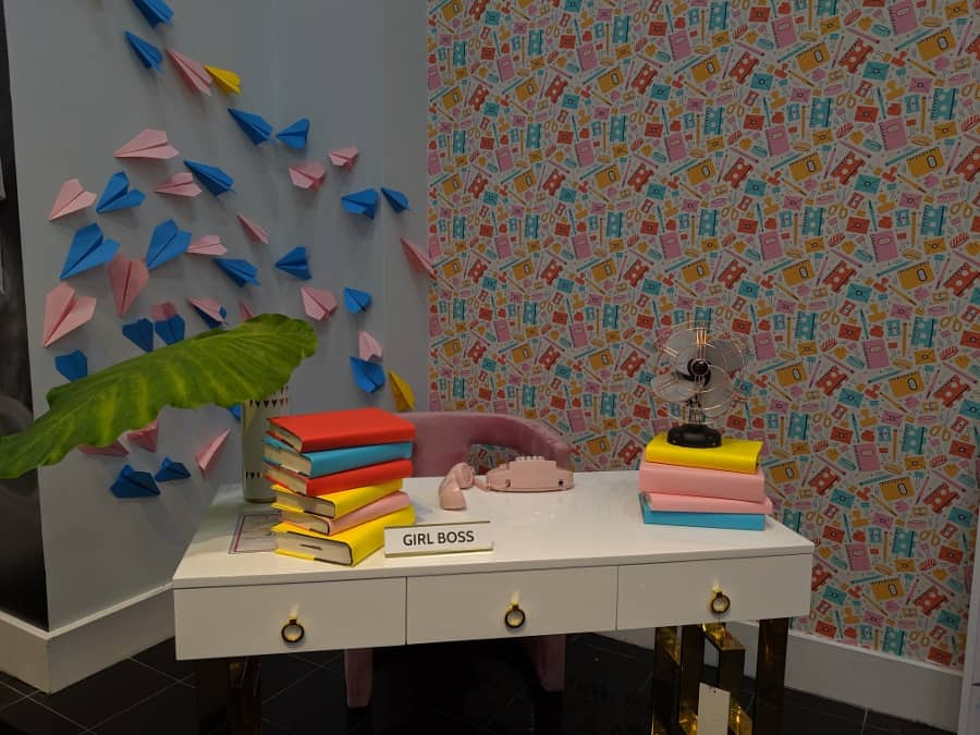 Girl boss at Gallery Furniture