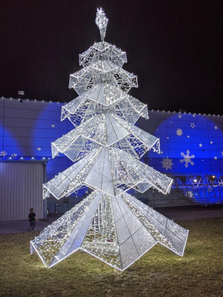Tree Galaxy Lights Space Center