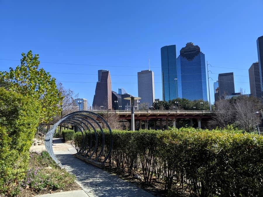 Buffalo Bayou View of Downtown Houston