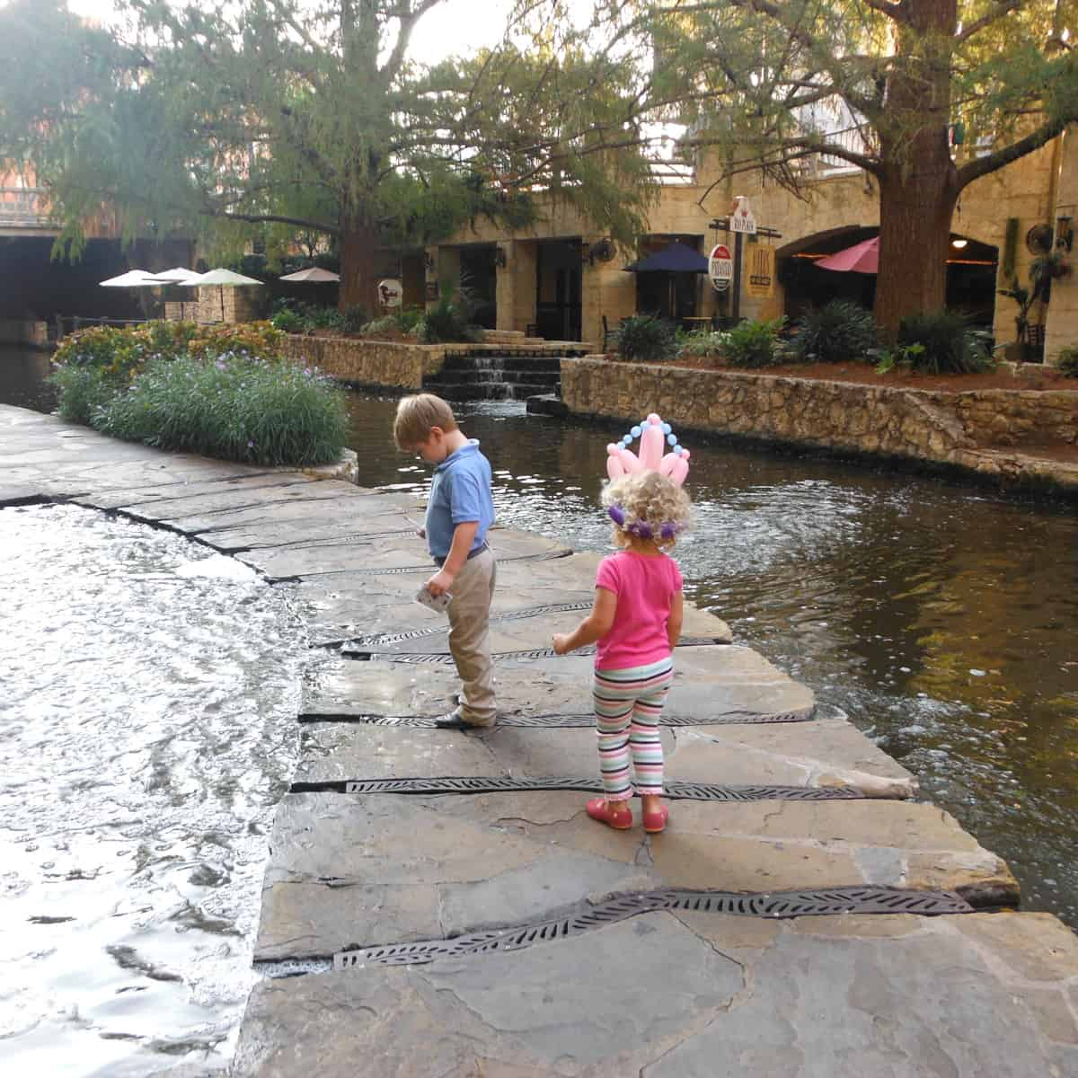 San Antonio River Walk Kids Crossing