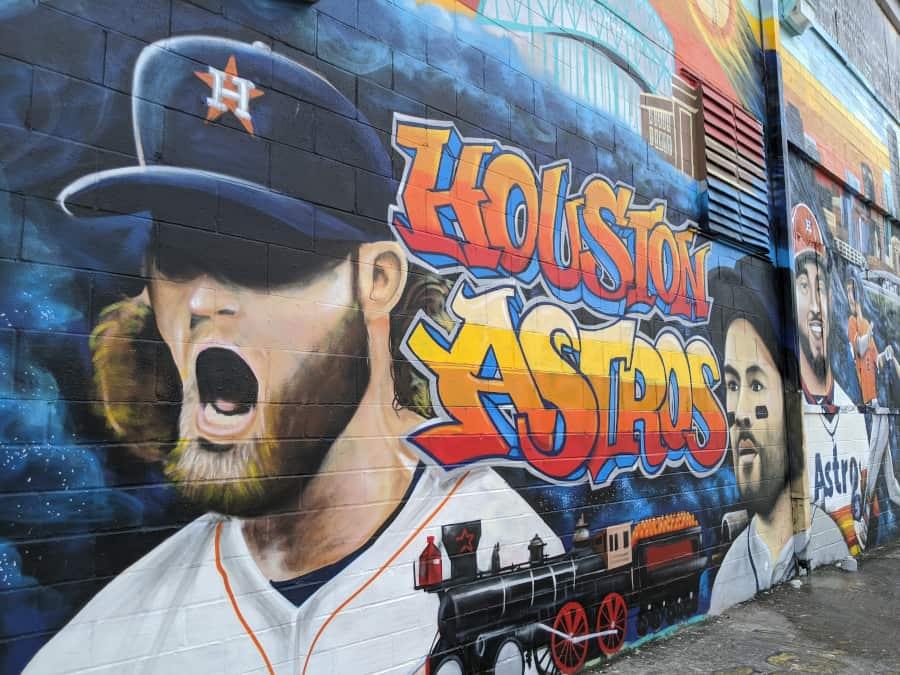 Houston Graffiti Building Astros Mural