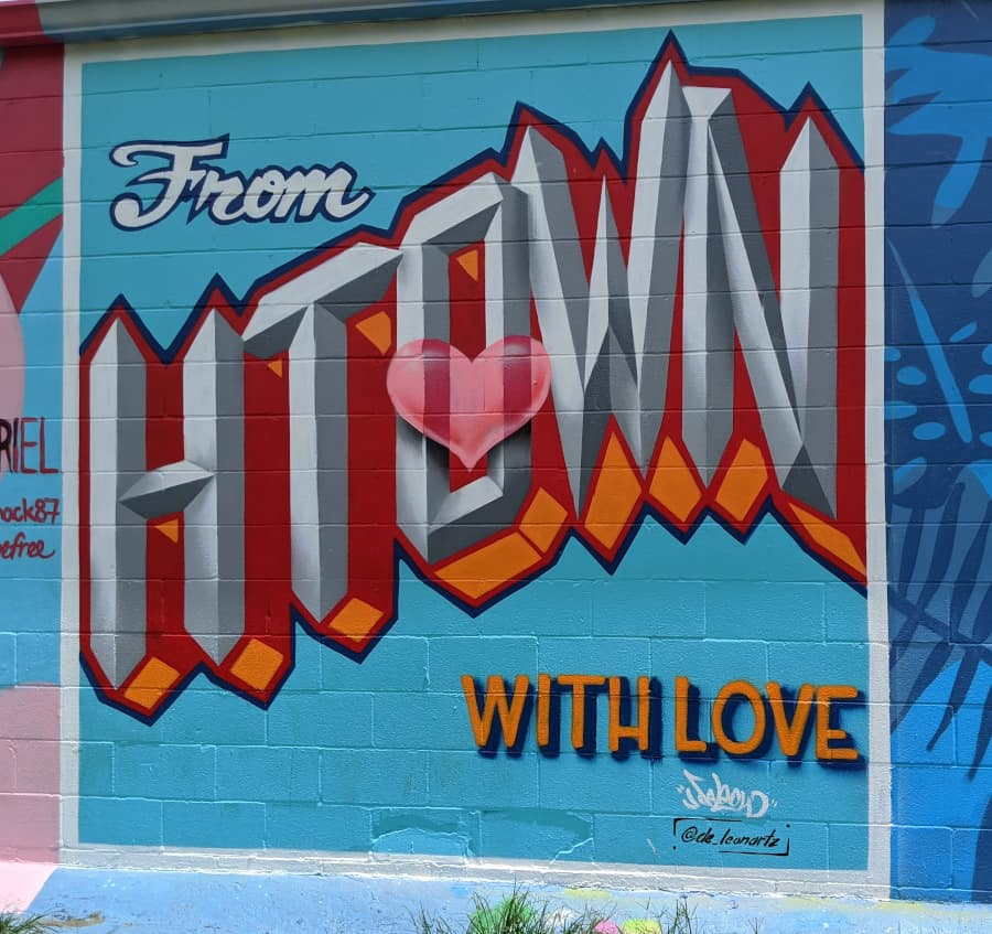 From HTown with Love Houston Mural