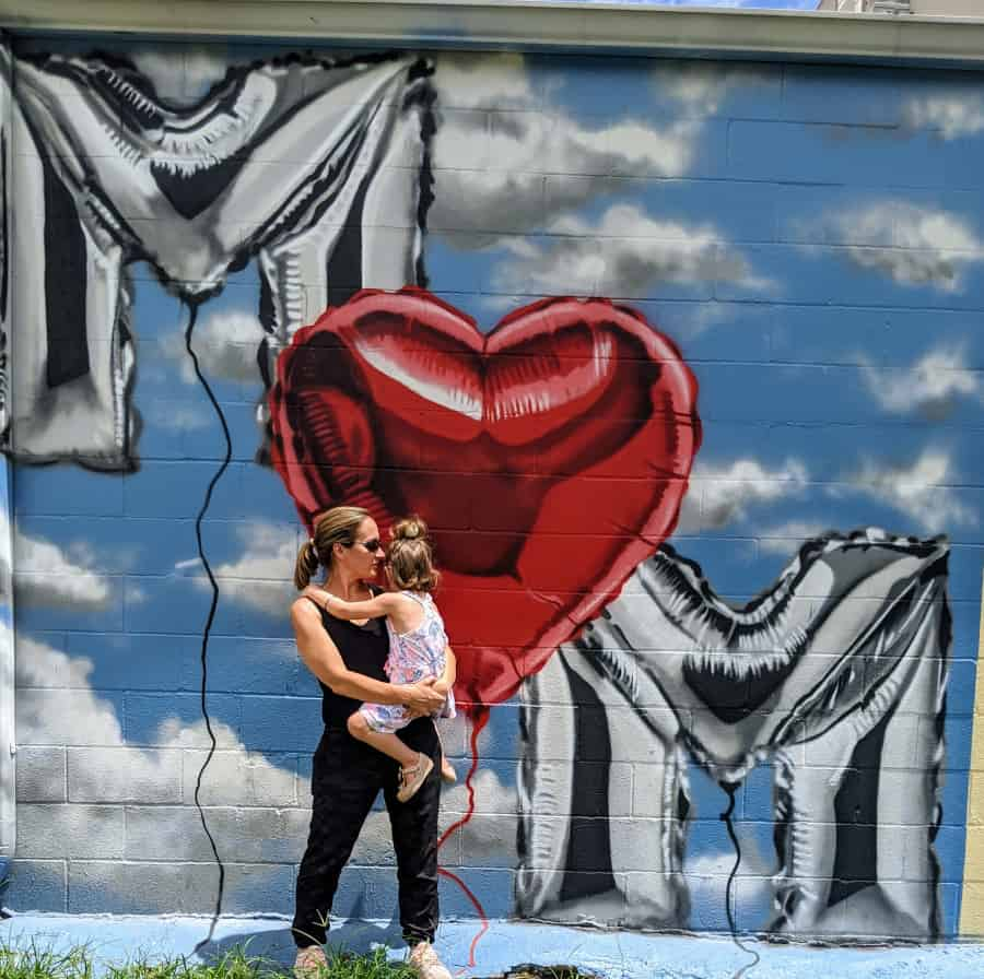 Mom Mural at Houston Graffiti Building