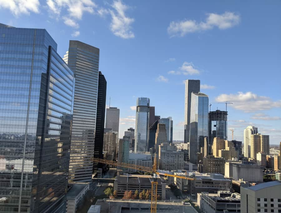 View of Downtown Houston Skyline