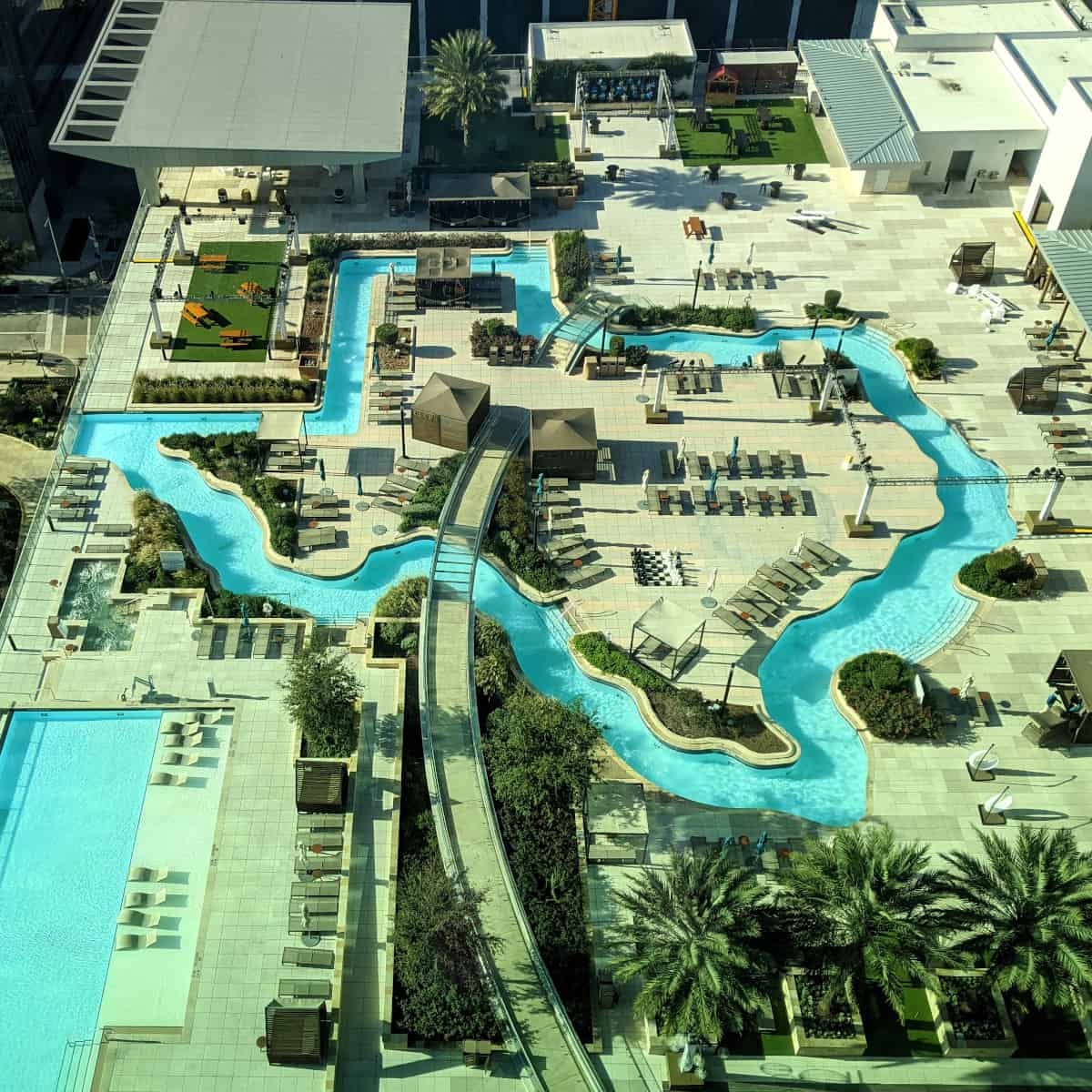 Texas Shaped Pool at Marriott Marquis