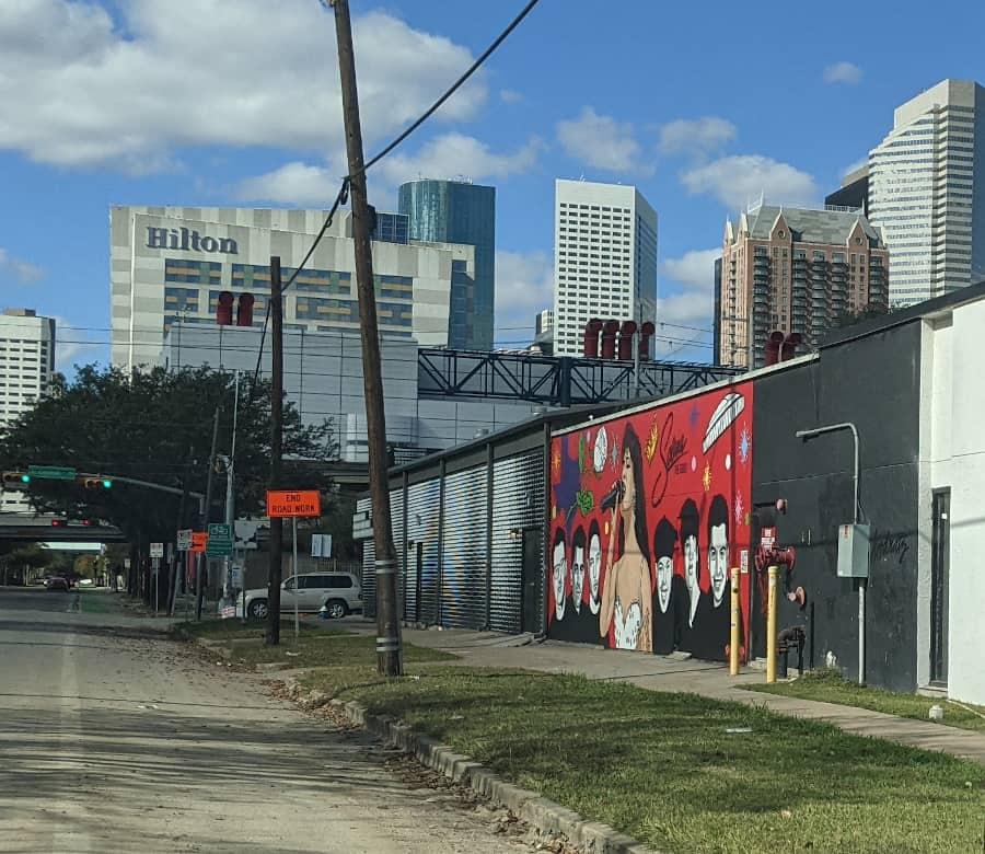 Houston Selena Mural on Polk Street