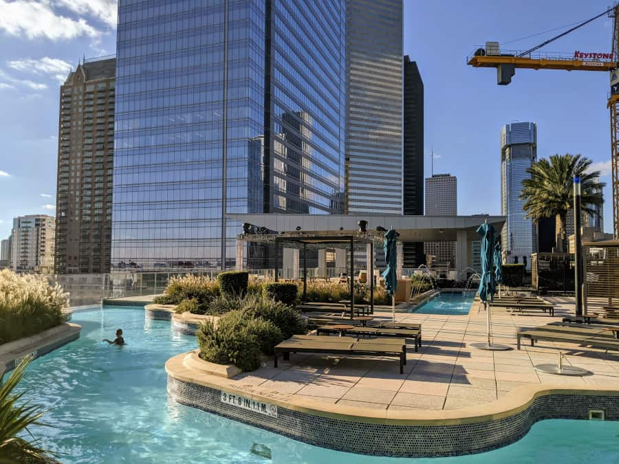 Rooftop Lazy River Marriott Downtown Houston