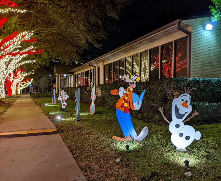 University of St. Thomas Christmas Lights Characters