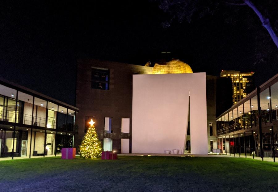 University of St. Thomas Christmas Lights Church