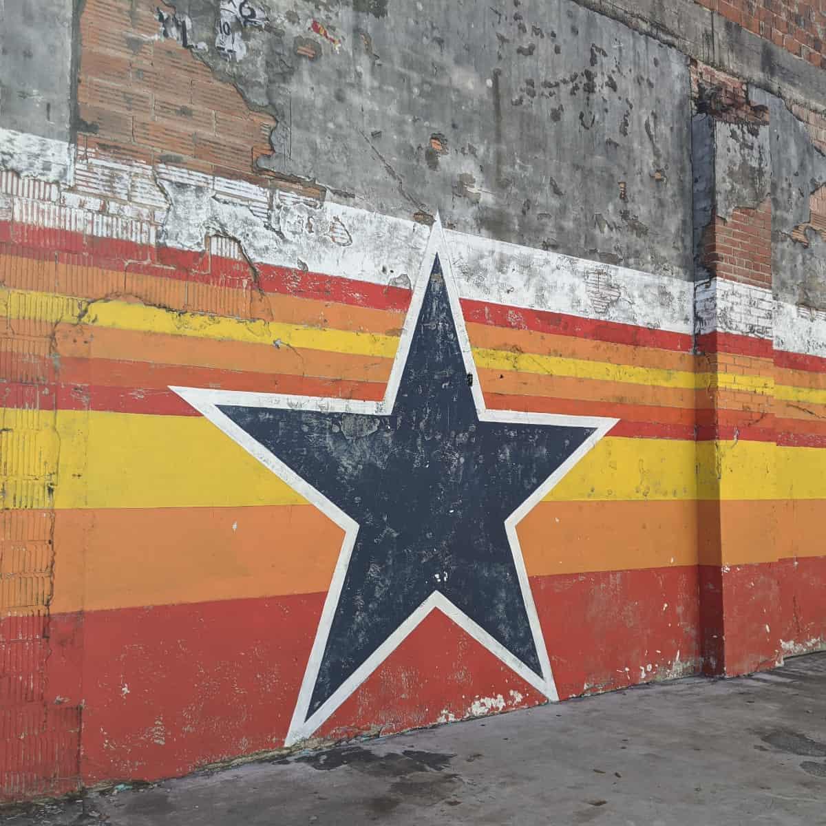 Houston Astros Star Mural