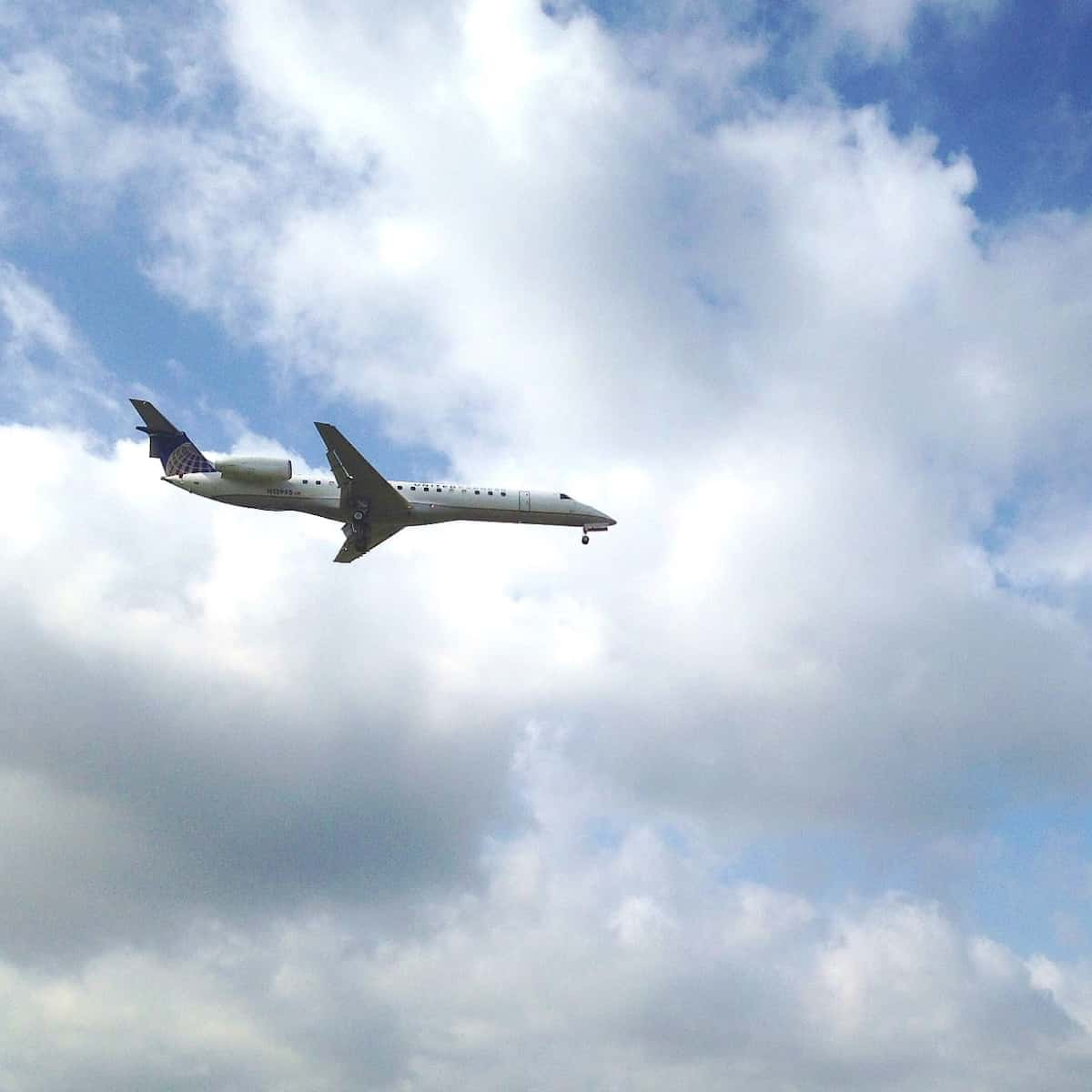 Airplane over Houston