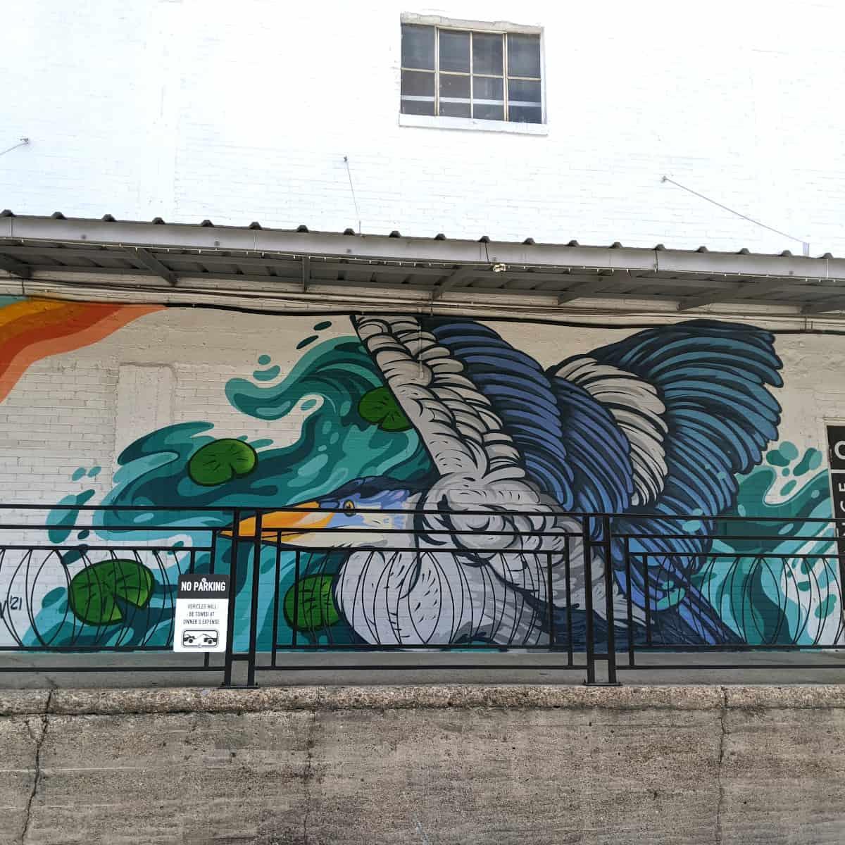 Art is in the Making Mural Bird