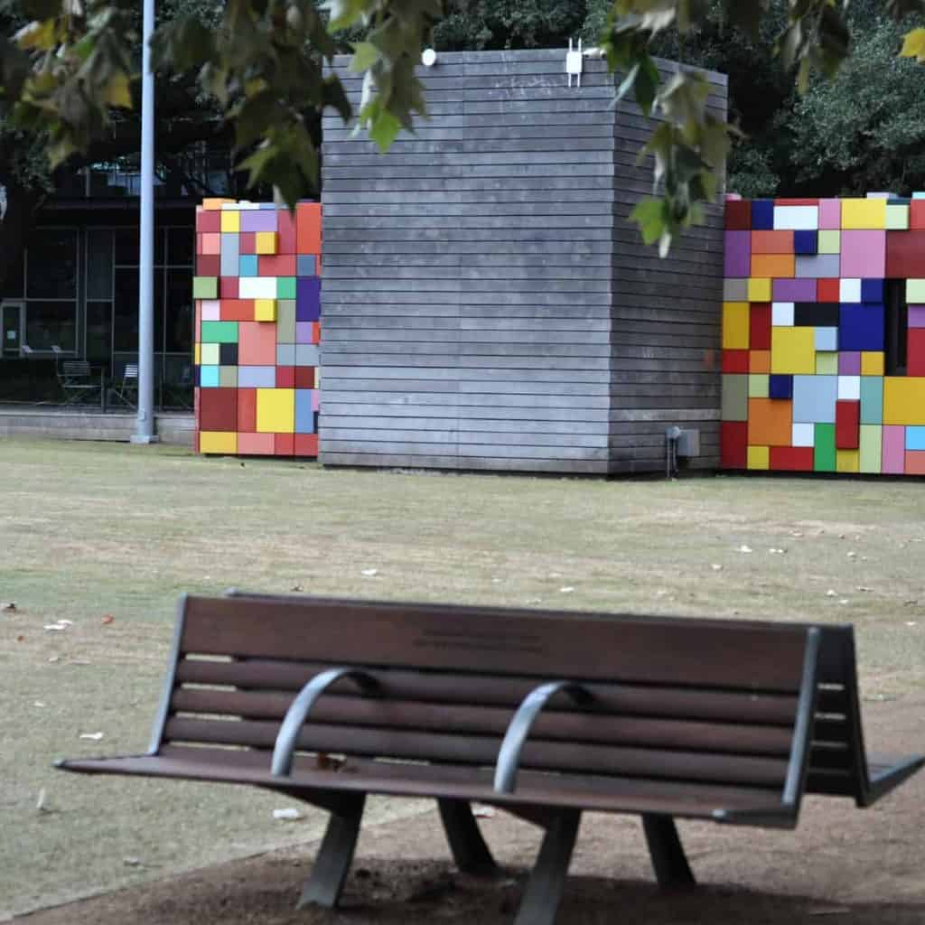 Discovery Green Colorful Block Wall