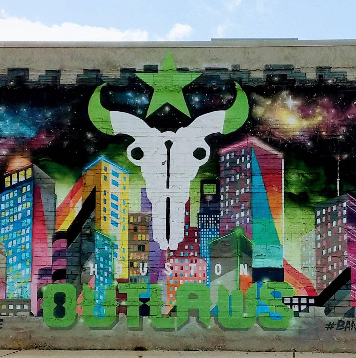 Houston Outlaws Mural