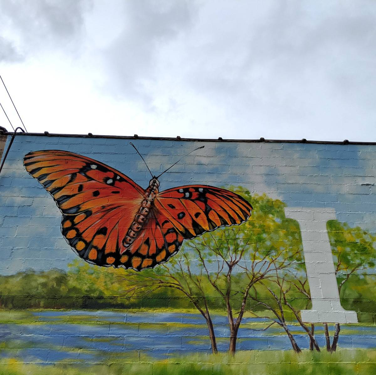 Butterfly on Arts District Mural
