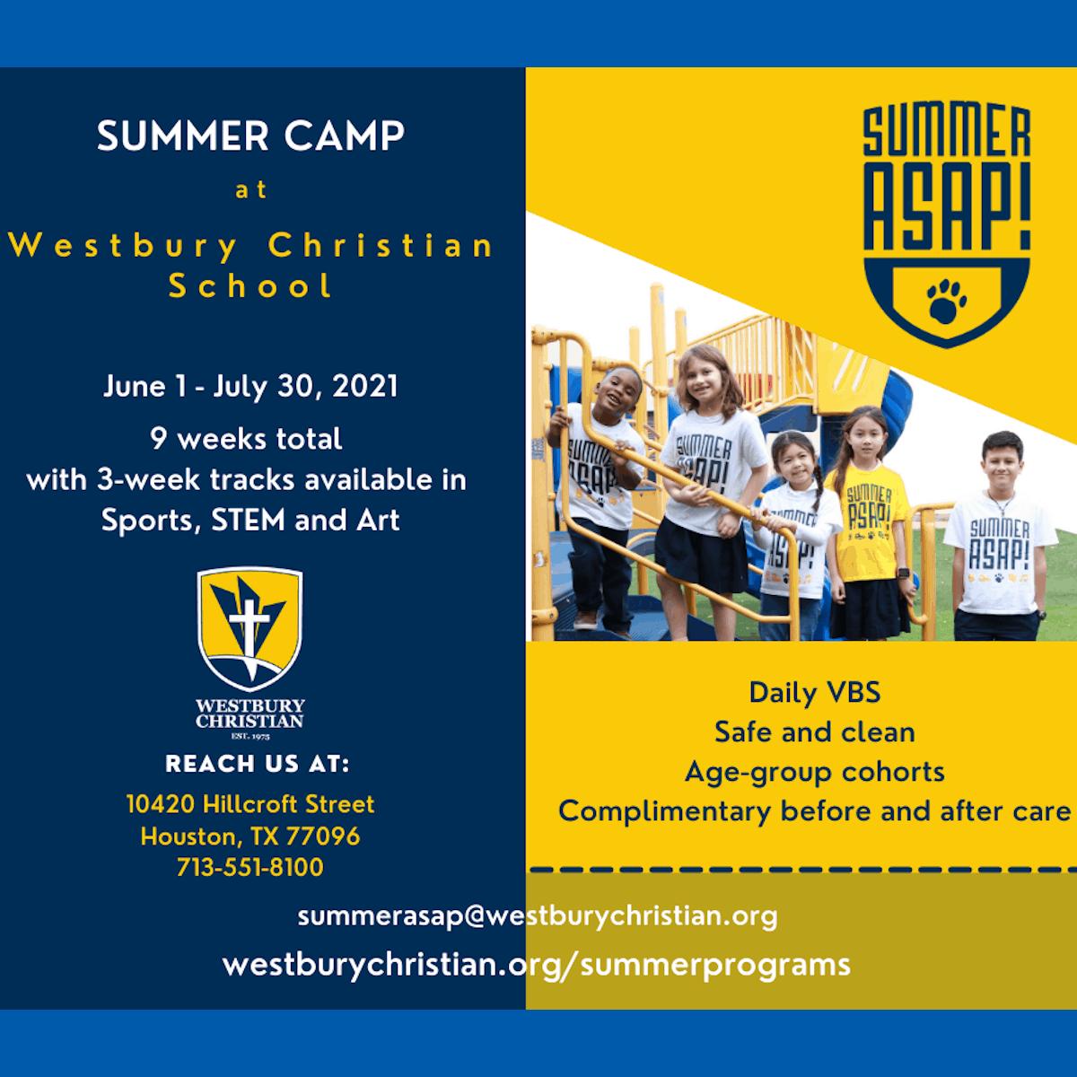 Westbury Christian School Summer Camp